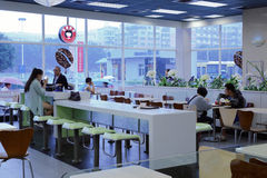 Kfc restaurant in sm mall Royalty Free Stock Images