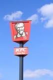 KFC sign. KFC (Kentucky Fried Chicken) sign on blue sky background Stock Images