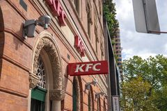 KFC store in vintage building stock photography