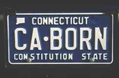 Kfz-Kennzeichen in Connecticut Lizenzfreie Stockfotografie