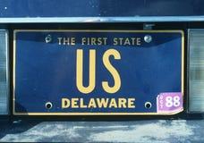 Kfz-Kennzeichen Delaware Stockfoto
