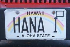 Kfz-Kennzeichen in Hawaii Lizenzfreie Stockfotografie