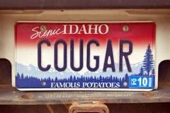 Kfz-Kennzeichen in Idaho Stockfotografie