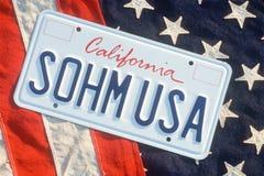 Kfz-Kennzeichen in Kalifornien Stockbilder