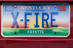 Kfz-Kennzeichen in Kentucky Stockfotos
