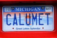 Kfz-Kennzeichen in Michigan Lizenzfreie Stockfotografie