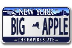 Kfz-Kennzeichen NY Lizenzfreies Stockbild