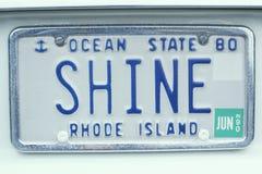 Kfz-Kennzeichen in Rhode Island Lizenzfreies Stockfoto