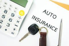 Kfz-Versicherung Stockfotos
