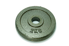 2 kg круглого оборудования фитнеса Стоковое Фото