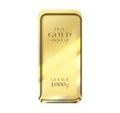 1kg gold bar Royalty Free Stock Photo