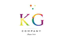 Kg k g  creative rainbow colors alphabet letter logo icon Royalty Free Stock Photo