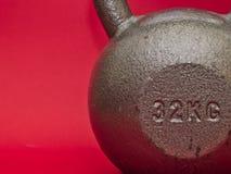 32 kg kettlebell stock image