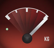 Kg weight gas tank illustration Royalty Free Stock Image