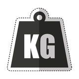 Kg weight isolated icon Royalty Free Stock Photo