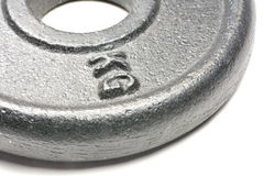 KG weight. A kilogram (kg) round weight Royalty Free Stock Photo
