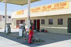 Kgalagadi filling station Royalty Free Stock Photo
