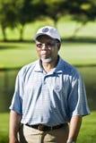 Kgalema Motlanthe nell'usura di golf Fotografia Stock Libera da Diritti