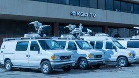 KGO News Van Truck Stock Images