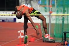 kgosiemang prague kabelo высокого прыжка 2012 Стоковое Изображение RF