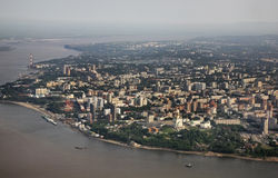 Khabarovsk and Amur river. Russia Stock Photography