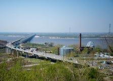 Khabarovsk Bridge across the Amur River Stock Image