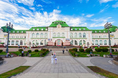 Khabarovsk region railway station Stock Image