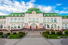 Khabarovsk region railway station Royalty Free Stock Image