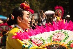 Korean traditional dancer stock images