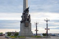 The monument to the heroes of the civil war on Komsomolskaya squ Stock Photography