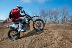Khabarovsk , Russia - march 22, 2014 : Enduro motorcycle extreme rides royalty free stock image
