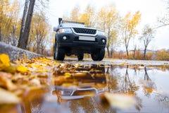 KHABAROVSK RYSSLAND - OKTOBER 14, 2017: Mitsubishi Pajero sport I Arkivbild