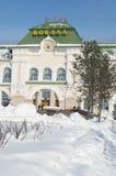 khabarovsk staci pociąg Obrazy Royalty Free
