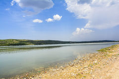 Khabeki Lake, Soon Valley. Khushab. Khabeki Lake is a salt water lake, located in the Soon Valley in the southern Salt Range area in Khushab District, Punjab Royalty Free Stock Photo