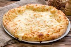 Khachapuri con formaggio fotografie stock libere da diritti