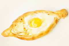 Khachapuri Georgian Cheese Pie and Egg Stock Image