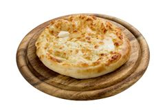 Khachapuri. Traditional Caucasian puff cake. royalty free stock photo