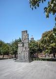Khachkar в памяти о геноциде армянских людей стоковое изображение rf