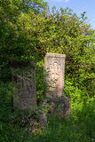 Khachkar is carved memorial stone. Stock Photography