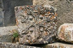 Khachkar o cruz-piedra Imagenes de archivo