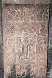 Khachkar ou cruz-pedra Foto de Stock Royalty Free