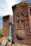 Khachkars de Hairavank Photographie stock libre de droits