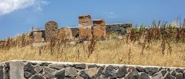 Старые khachkars монастыря Sevanavank стоковые фото