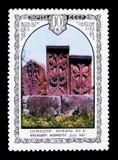 Khachkars sned stenar, Armenien, `en för arkitektur för serie` den armeniska, circa 1978 Royaltyfria Bilder