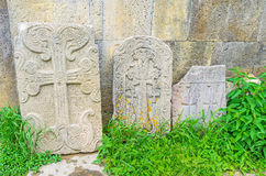The khachkars of Tatev Royalty Free Stock Images