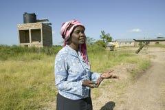 Khadija Rama, fundador do programa de reabilitação de Pepo La Tumaini Jangwani, da comunidade de HIV/AIDS, do orfanato & da clíni fotografia de stock royalty free