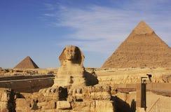 Khafre,开罗狮身人面象和金字塔  免版税图库摄影