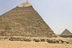 Khafre and Menkaure pyramids Stock Photography