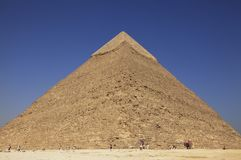 Khafre Pyramid - Giza, Egypt Royalty Free Stock Photos