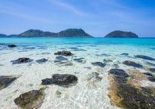 Khai de Ko, Satun : belle plage en Thaïlande, Photographie stock